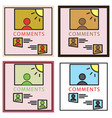 set of self photo concept comments on the photo vector image