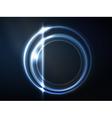 Blue circular frame vector image vector image