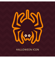 Spider halloween silhouette icon vector image