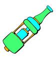 Electronic cigarette mouthpiece icon cartoon vector image