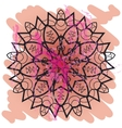 Oriental mandala motif yoga karma vector image vector image