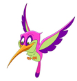 beautiful cartoon hummingbird vector image