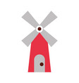 farm windmill isolated icon vector image