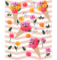 flowers picotee pattern background vector image