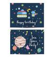 Invitation on children costumed birthday party vector image