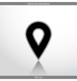 map pointer web flat icon vector image