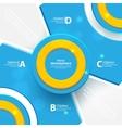 Modern blue design of info-graphics vector image