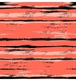 Multicolor striped pattern with brushed lines vector image