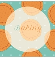pastry dough seamless pattern for pizza vector image