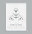 sared geometry symbol design vector image
