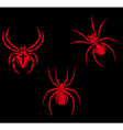 spiders vector image