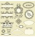 Vintage ornaments and frames vignettes calligraphi vector image