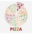 contour pizza vector image