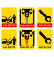 auto service sign vector image vector image