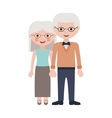 old woman and man cartoon vector image