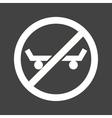 No Skating vector image