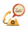 retro telephone to call and talk vector image