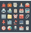 Office and business Flat icons for Web Mobile vector image