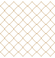 Nautical rope seamless gold fishnet pattern vector image
