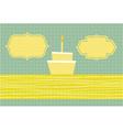 birthday card vector image