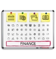 Finance hand drawing line icons vector image vector image