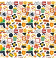Action movie seamless pattern vector image