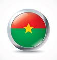 Burkina Faso flag button vector image