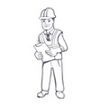 construction manager vector image