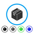 package rounded icon vector image