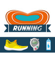running shoes sport competition concept vector image