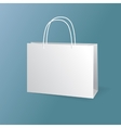 white paper bags set isolated on blue background vector image