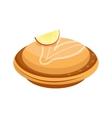 Homemade organic apple pie dessert vector image