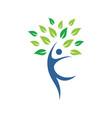 eco tree people logo image vector image