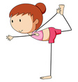 Girl and Yoga vector image vector image