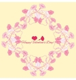 Background with pink bindweed vector image