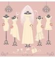 Bridal dresses on mannequinFashion background vector image