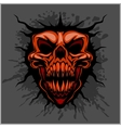 aggressive skull for motocross helmet vector image
