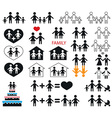 icons family and children vector image