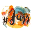 Hashtag Jazz Lettering on Spot Background orange vector image