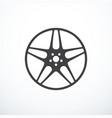 alloy wheel icon vector image
