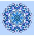 blue beautiful vintage circular pattern of vector image