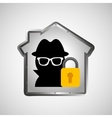 computer data protection thief lock icon vector image