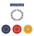 laurel wreath floral ancient emblem vector image