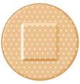 round adhesive bandage vector image
