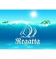 Sailing sport and regatta symbol vector image