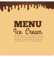 Waffle texture background for cafe menu design vector image