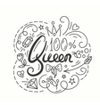 Queen Typography Design Lettering print for t vector image