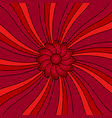 flower on red rays vector image