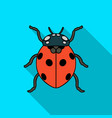 ladybug icon in flat style isolated on white vector image