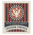 usa postage stamp with the eagle and words vector image vector image